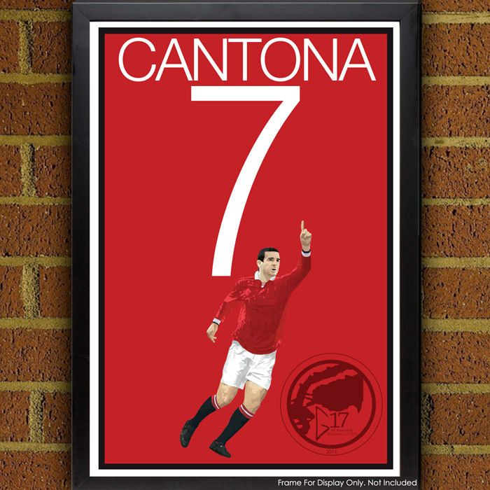 Eric Cantona Poster - Manchester United Soccer Poster, print, art, home decor, wall decor, red devils poster, cantona art by Graphics17 on Etsy