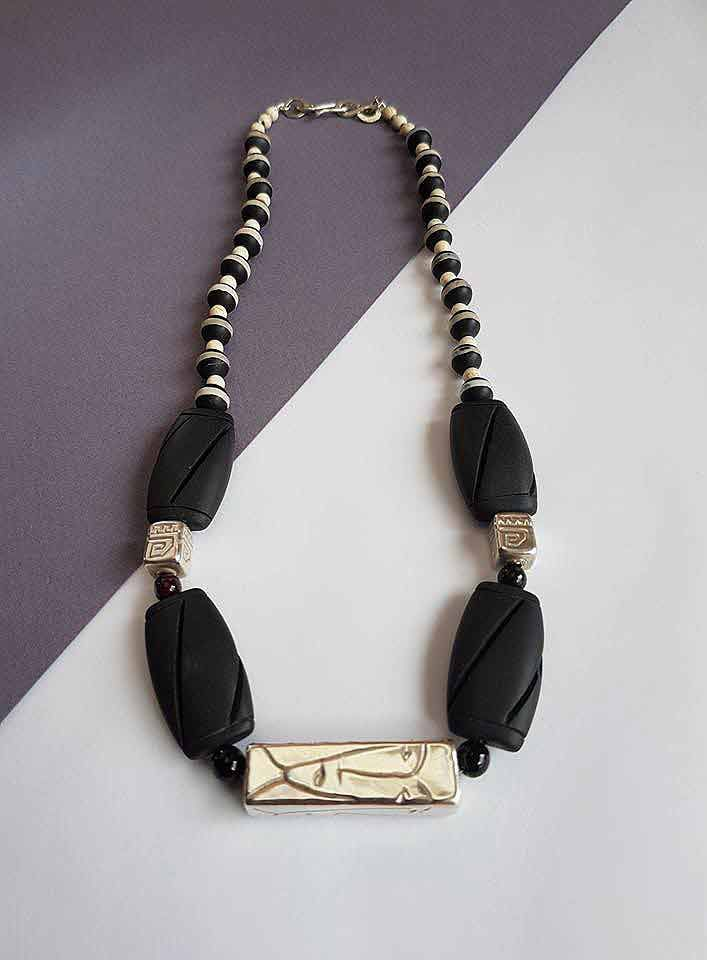 """Gems & Silver """"Picasso"""" Necklace"""