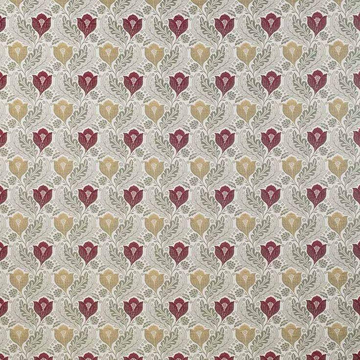Warwick Fabrics : KELMSCOTT, Colour SCARLET