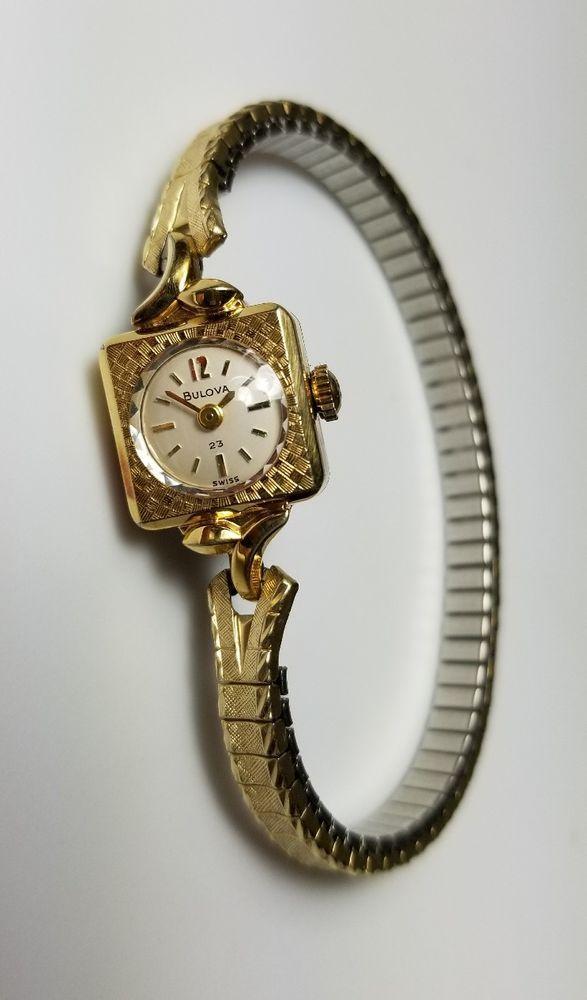 Vintage Ladies Bulova M9 Wind Up Watch Marked 10K RGP Retro