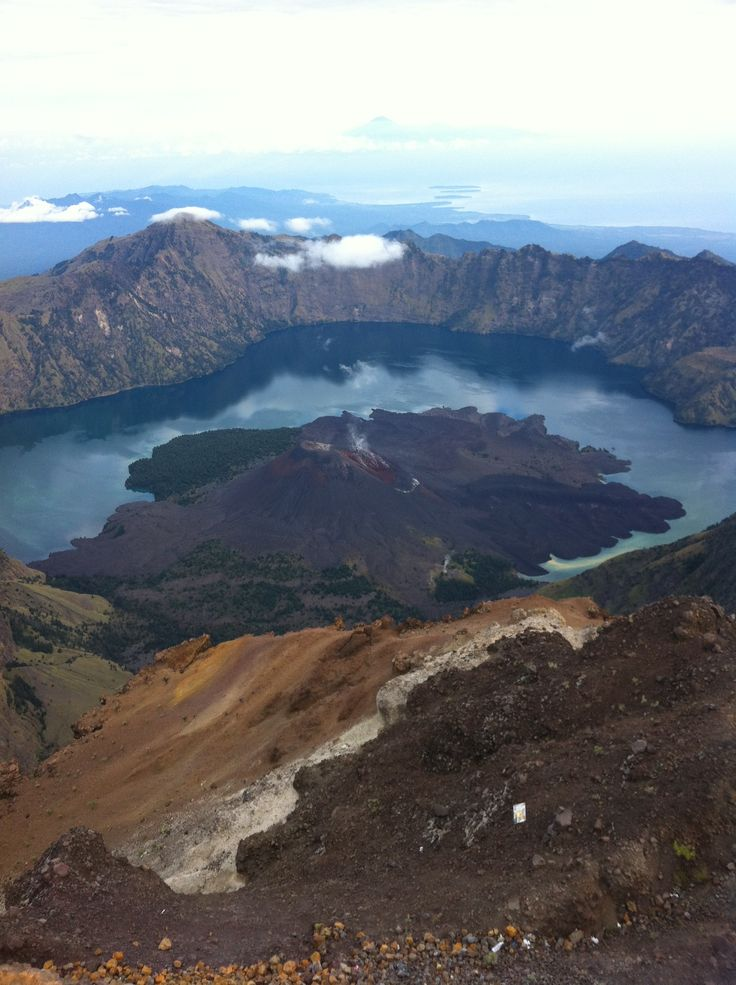 Mt Rinjani summit view, Lombok, Indonesia