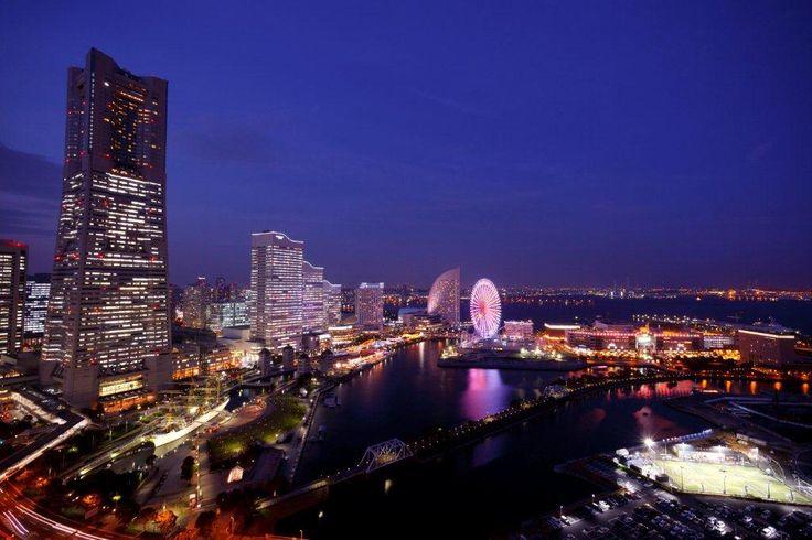 クロスゲート屋上からの夜景 フリースポット ナイトビュー みなとみらい 横浜 桜木町