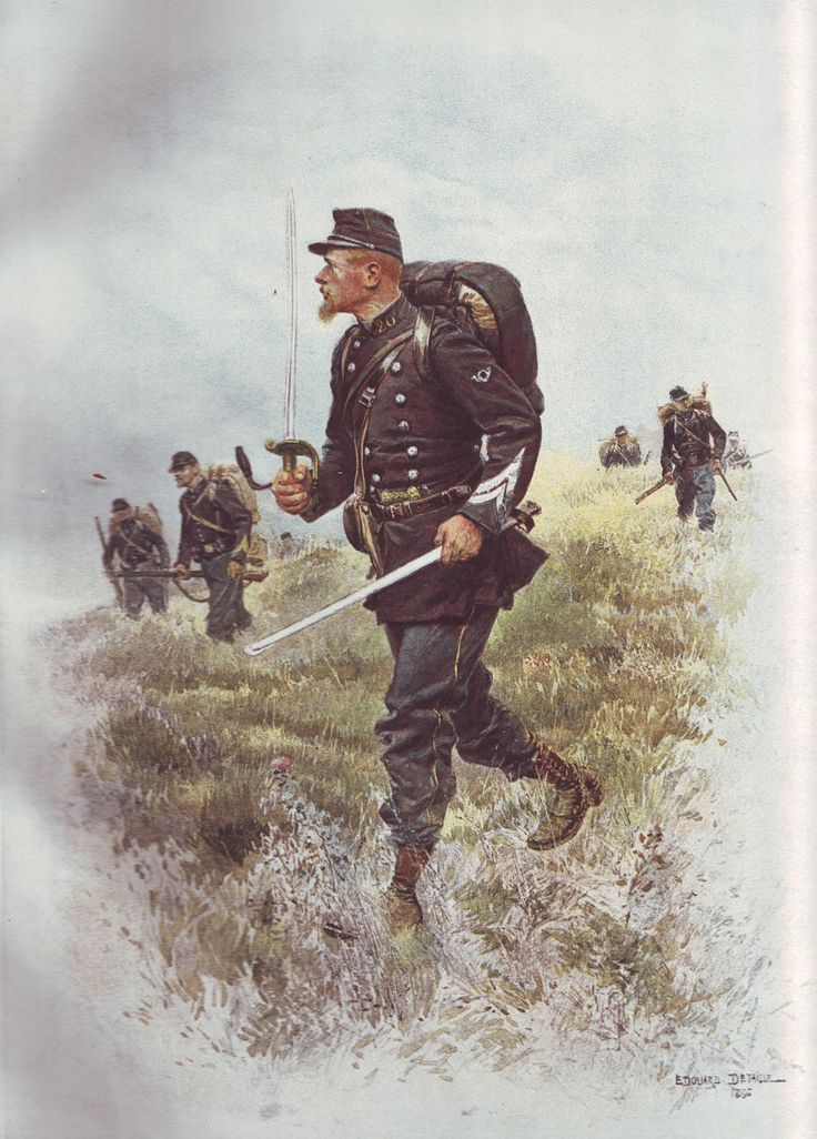 French Army 1900 Sergeant Major of Chasseurs a Pied by Édouard Detaille