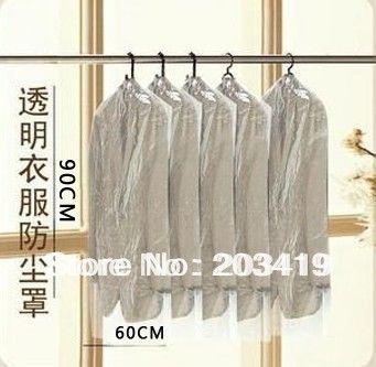 disposable foldable plastic clear storage bag box case organizer for suit clothes overcoat jack wind coat wholesale retail #Affiliate