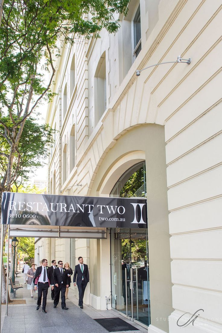 restaurant two's entrance on the beautiful Alice street in Brisbane City