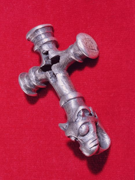 A Viking amulet in the shape of a cross, now in the National Museum of Iceland © Bridgeman Art Library