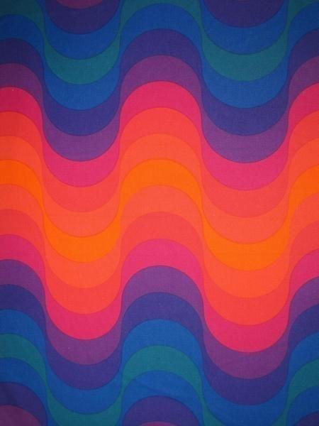 Verner Panton; 'Wave' Fabric for MIRA-X, 1973.