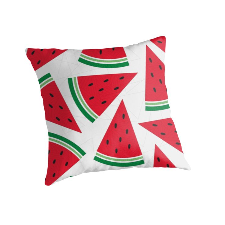 """Watermelon"" Throw Pillow http://www.redbubble.com/people/angeflange/works/12751780-watermelon?p=throw-pillow"