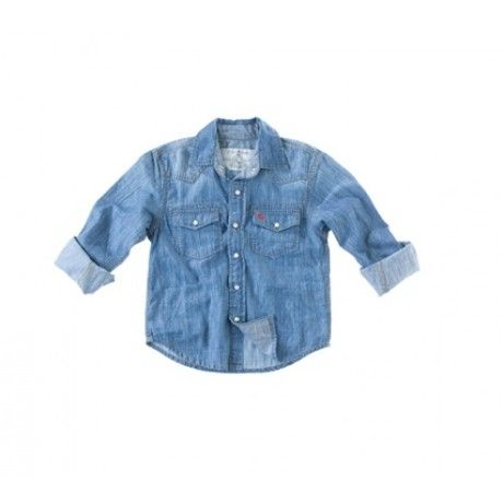 The Old Khaki Kids' Morty Shirt is a long sleeved denim shirt. It's 100% cotton and especially designed for comfort, keeping the little people in mind!  www.capeunionmart.co.za