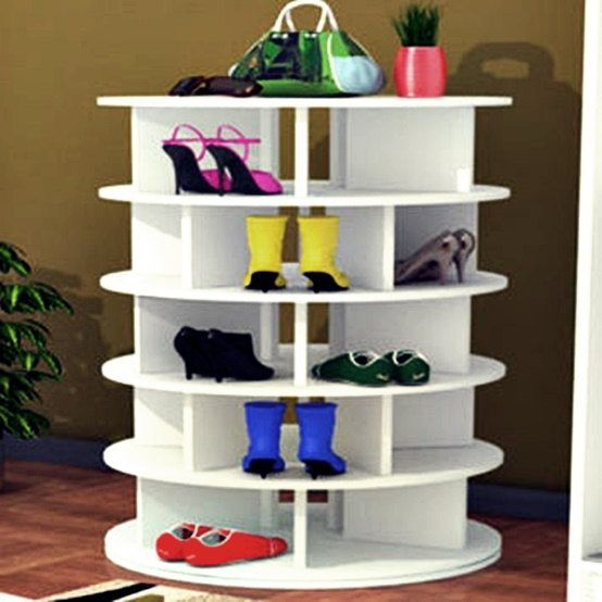What a great idea! This could be perfect for our downstairs entry | 11 Space-Saving Ways to Organize Your Shoes