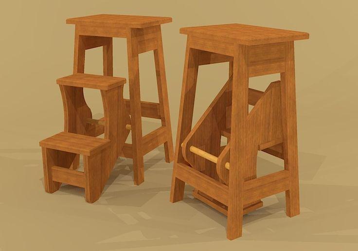 bar stool doubles as a step stool