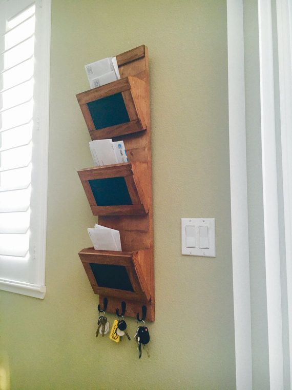 Rustic mail sorter approximately 36x9.25x5 by EdwardsworkshopCo