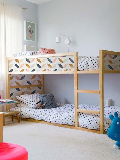 Kura Bed, Ikea, Scandinavian style pattern Sticker Set, PACK OF 5, Kids room decor, Self adhesive, Repositionable, Covering, Decal #14K