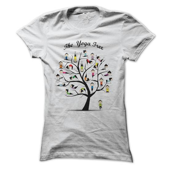 Womens T-shirt - Yoga Tree Pose - #womens hoodies #online tshirt design