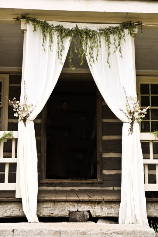 wedding, white, decoration, entrance, flowers, green, stepfs, wood, southamerica, southern style, hippie,The Story of a Seamstress: History of our Wedding Location + Wedding Decorating + Cakes