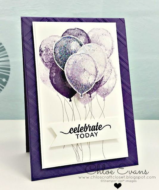 Balloon Builder - Birthday Card//Chlo's Craft Closet, Stampin Up, Occasions 2016,