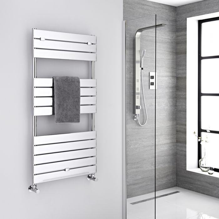 Lustro Hydronic Chrome Heated Towel Warmer 47 75 X 23 5 Heated Towel Rail Towel Warmer Towel Rail
