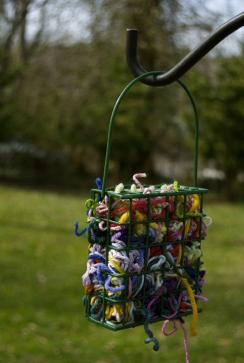 Help the Birds Build A Nest - Cornell Approved! This is so cute....you are recycling and helping the birds adorable!
