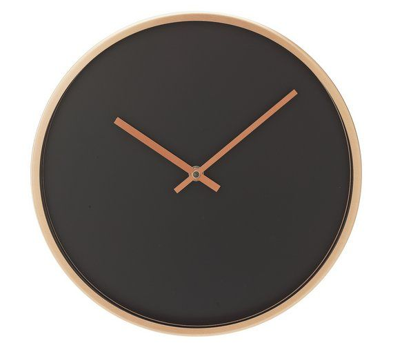 Buy Collection Harlow Metal Wall Clock - Copper & Black at Argos.co.uk, visit Argos.co.uk to shop online for Clocks, Home furnishings, Home and garden