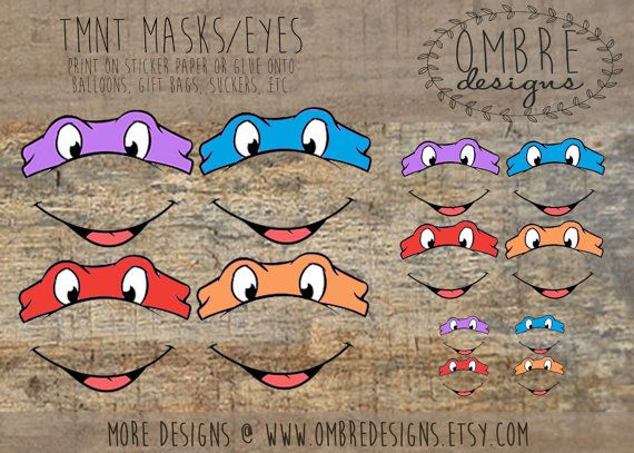 Ninja Turtle Masks for your  TMNT Party. TMNT, Printable Party