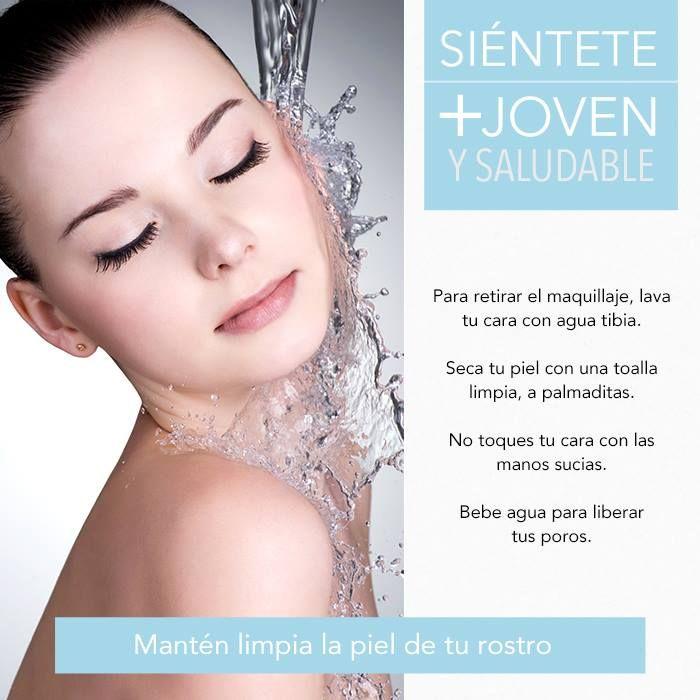 Es importante la limpieza adecuada de la piel de tu rostro para mantenerla joven y fresca por más tiempo.