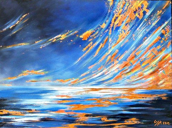 Original large abstract acrylic textured by ITsARTbySNOWBEE