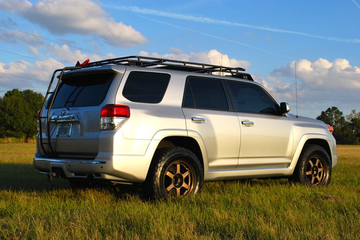 Roof Rack Ladder >> Toyota 4Runner 5th gen, Bronze Rays Volk TE37, Gobi Stealth Roof Rack, Gobi Ladder, Hi Lift ...