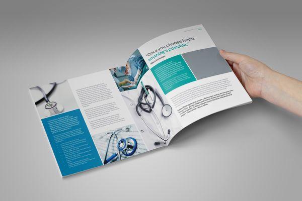 Medical / Healthcare Profile Brochure by Kiran Qureshi, via Behance