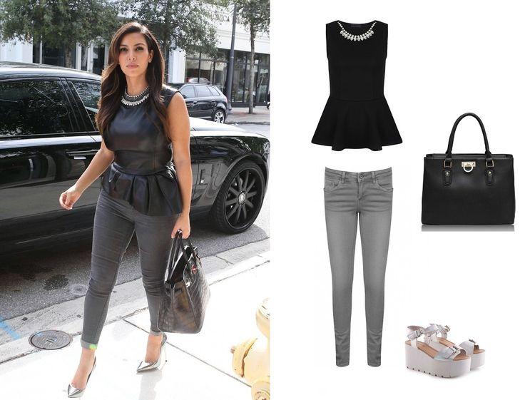 Elegancki look Kim, http://magazyn.modadamska.waw.pl/ubierz-sie-w-stylu-kim-kardashian/