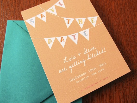 $3.50 Super Cute for your wedding or any festive gathering! Created by Earmark on Etsy. http://earmark.etsy.com #handmade #wedding #parties #invitations #pennant