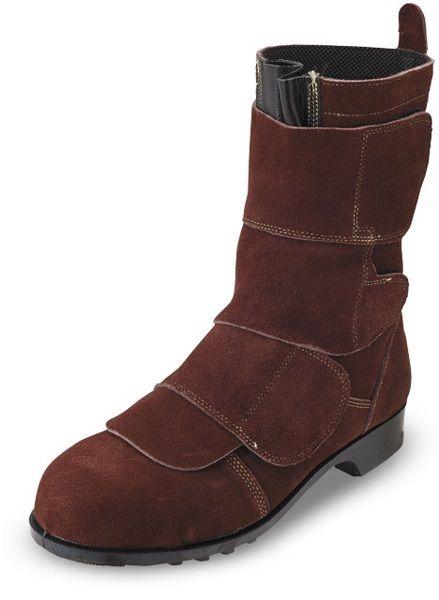 Brown leather welding boot. Who says fashion and welding can't come together?