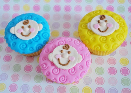Beautiful Baby Face Baby Shower Cupcakes #baby #babies #babyshower #cupcakes