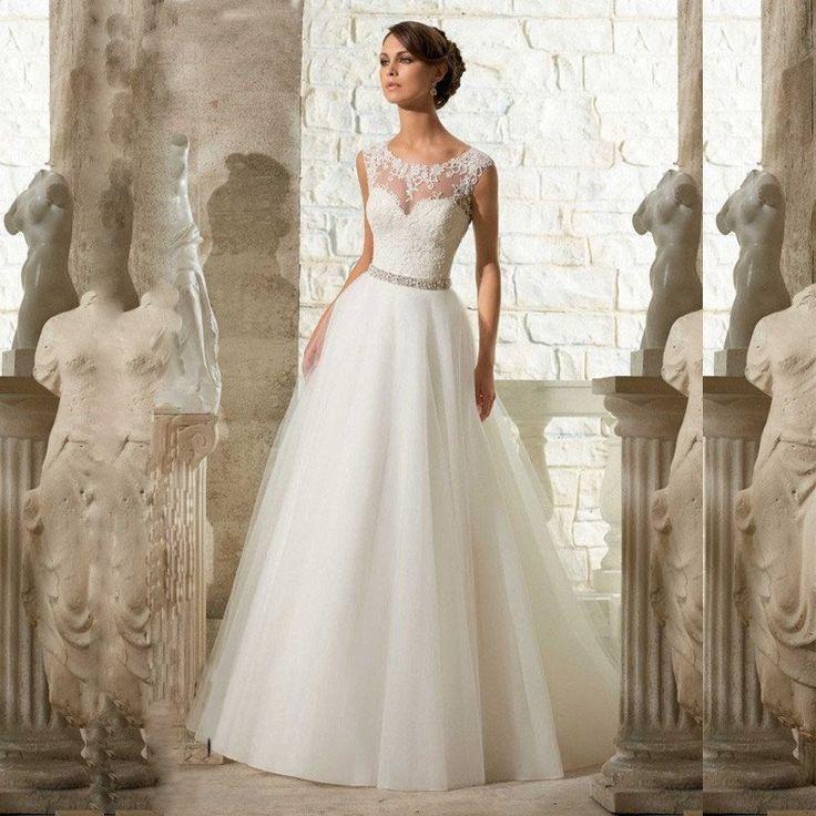 Now only $780! Beautiful A Line Appliques Beading Lace Wedding Dress  Shop24seven365.com.au