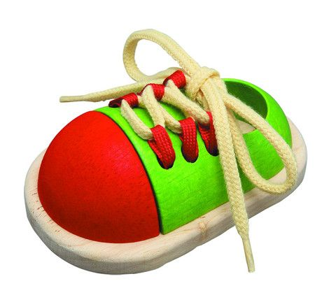 Tie Up Wooden Shoe Learning Toy. Eco friendly too! £8, www.oatesandco.com.