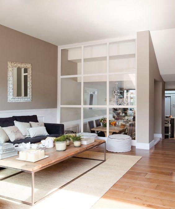 Separar ambientes con paredes de cristal luz natural - Paredes de cristal para separar ambientes ...