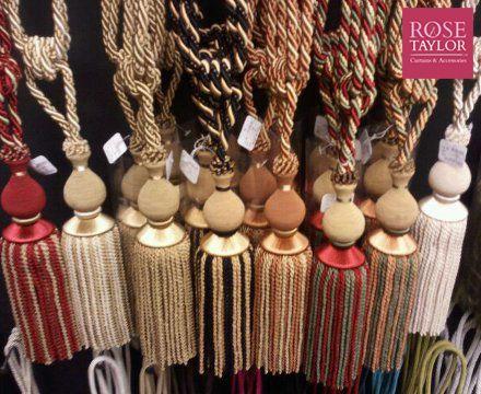 Selection of tassels. www.rosetaylorcurtains.com