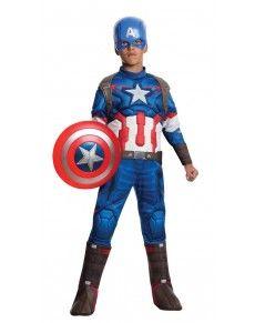 Kostuum Captain America  Avengers: Age of Ultron deluxe voor jongens