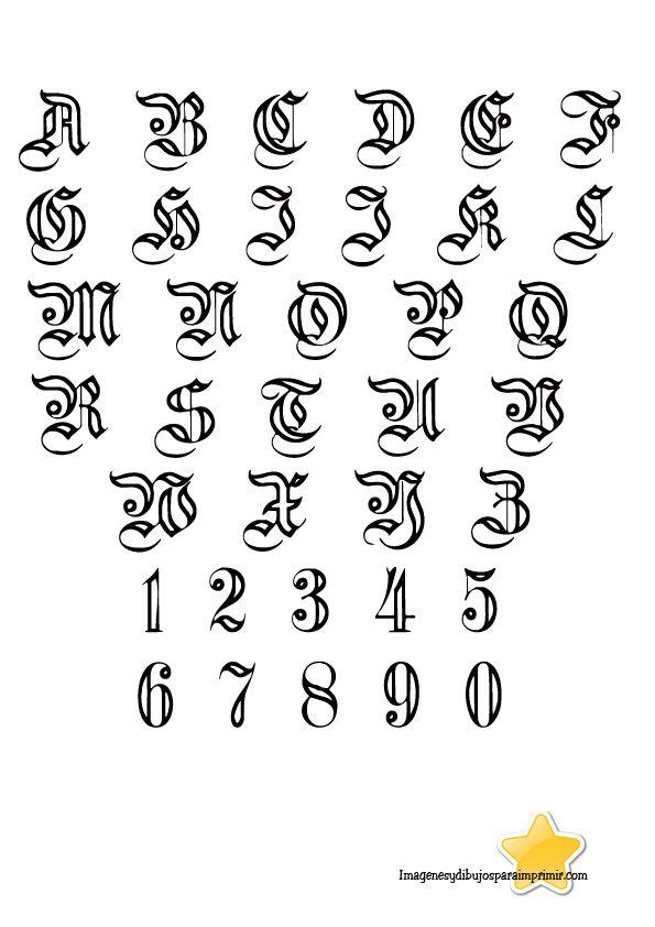 Letras para bordar-Imagenes y dibujos para imprimir