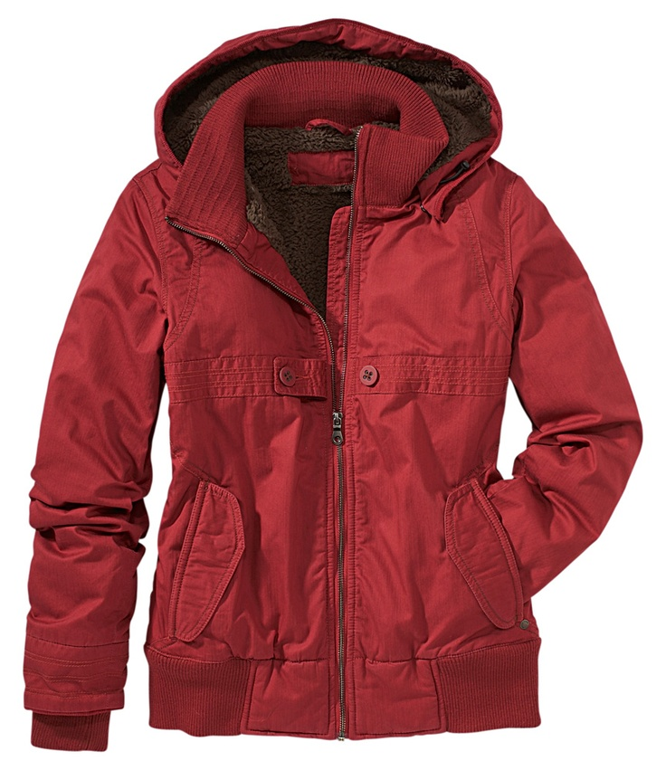 Hullabaloo Jacket in Brick Red.