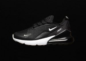 cffd14573e6f Mens Womens Nike Air Max 270 Black White Anthracite Solar Red AH6789 001  Sneakers Nike Air