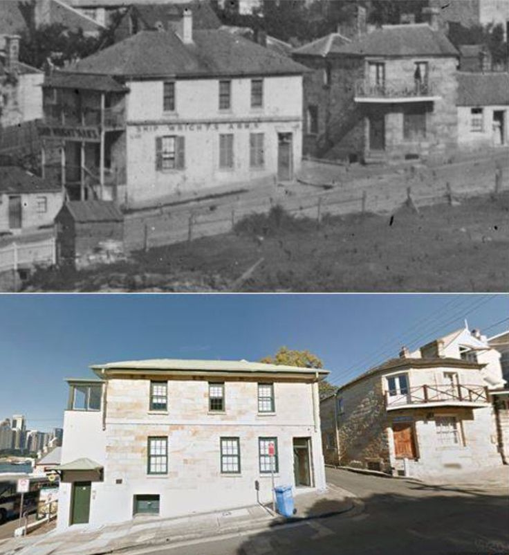 Ships Wrights Arms, Darling St, Balmain just up from wharf. Late 1800s?>2015 [1800s-@statelibrarynsw>2015-Les de Belin]