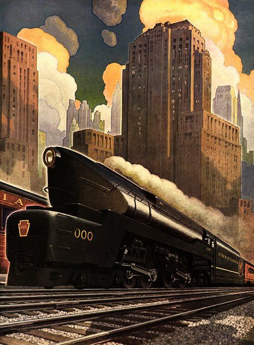 1000 images about vintage railroad travel posters on for Vintage train posters