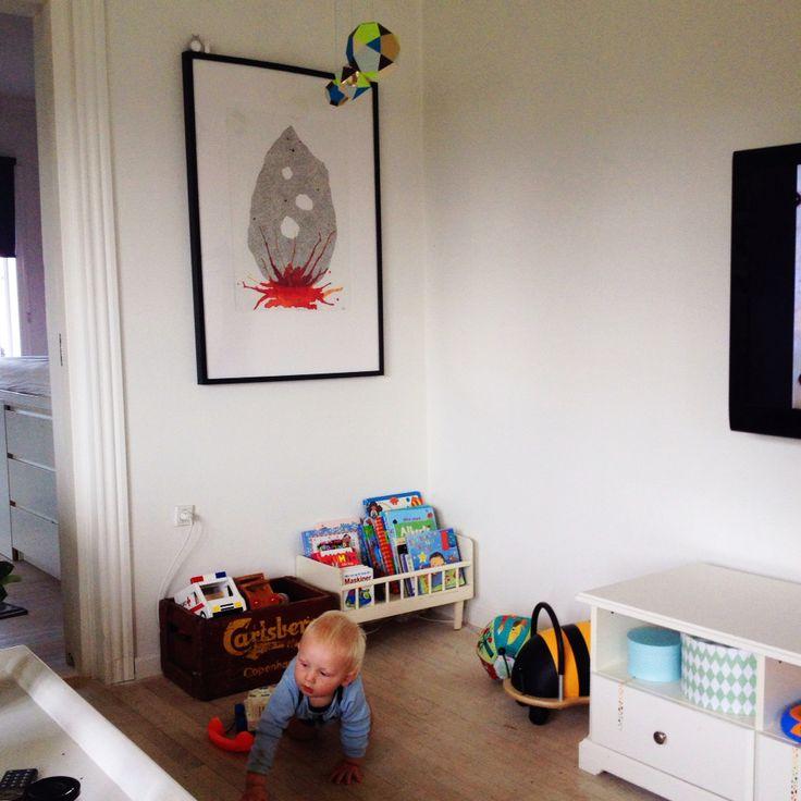 Living room. Artwork by Sarah Due