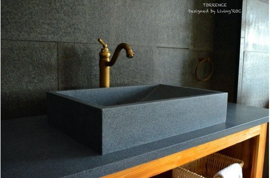 24″ Gray Granite Stone Bathroom Sink TORRENCE