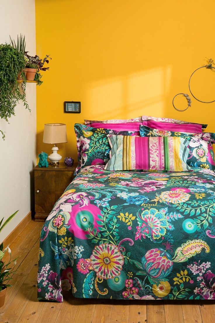 Duvet cover with two prints: stripes or paisley, you choose!