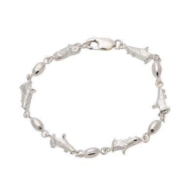 Bracelet Charmer - FOOTY FAN - Sterling Silver