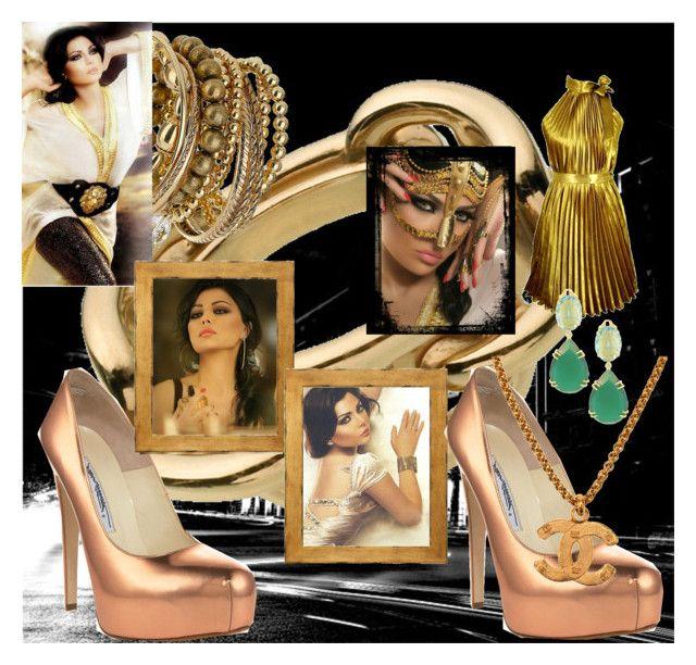 """Haifa Wehbe"" by analumeschke on Polyvore featuring moda, Dorothy Perkins, Brian Atwood, Chanel e ANGELINA"