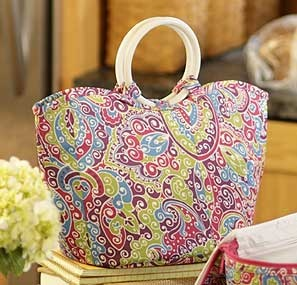It's doesn't look like one, but, it really is the Sisters Stay Cool Lunch Bag by Longaberger.   http://www.longaberger.com/lifestyle