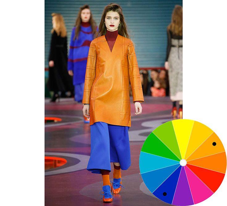 Ütős színkombinációk. Színkontrasztok az öltözködésben. Ütköző színek diszharmóniája.