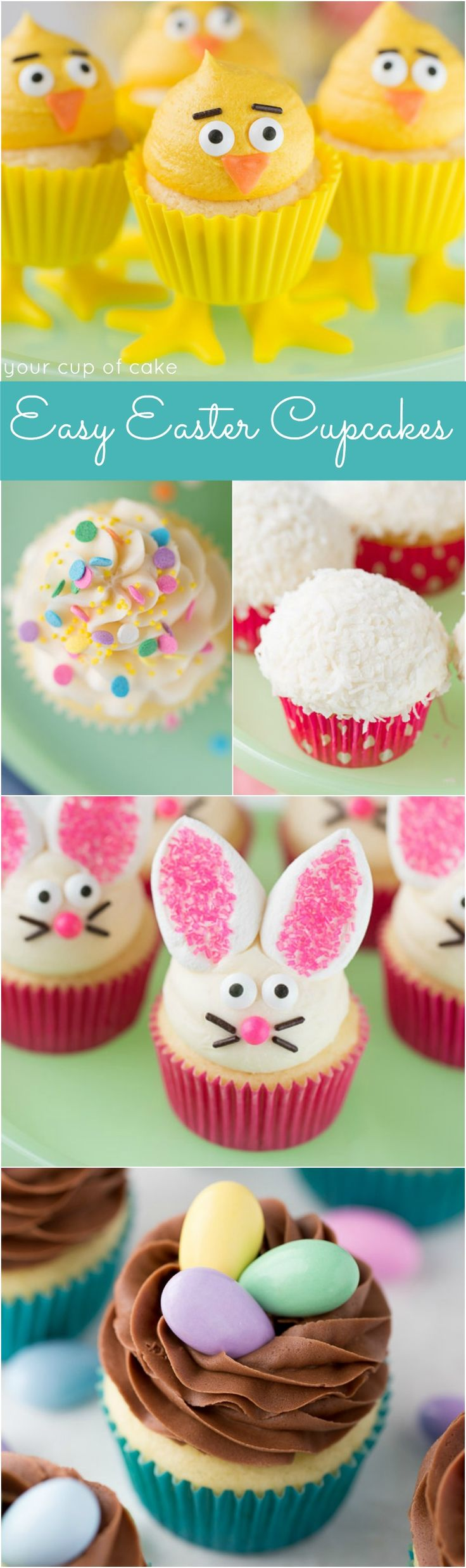 easy easter cupcake decorating ideas the marshmallow bunny ears are so cute - Cupcake Decorating